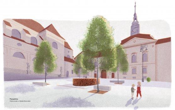 Vodní prvek na Dominikánské náměstí v Brně 3.0