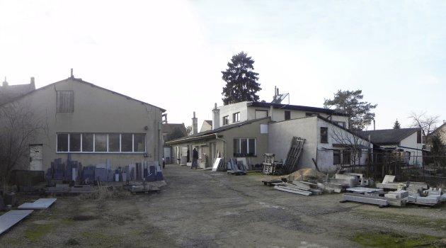 Přestavba kamenické dílny na rodinný dům - stávající stav