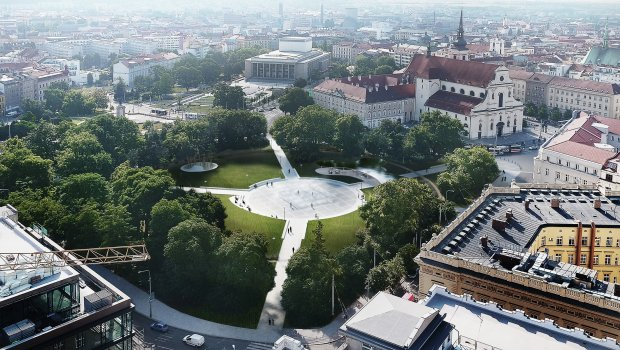 Park na Moravském náměstí v Brně