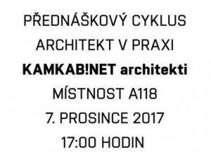 """Přednáška """"Architekt v praxi """""""